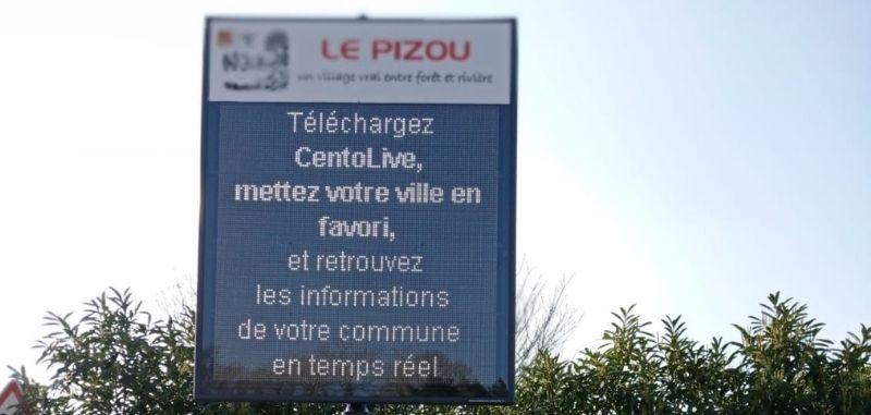 Le Pizou s'équipe d'un panneau d'affichage électronique !